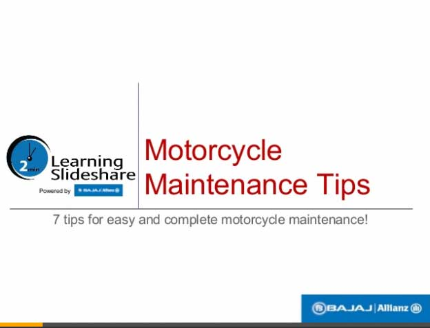 Motorcycle Maintenance Tips
