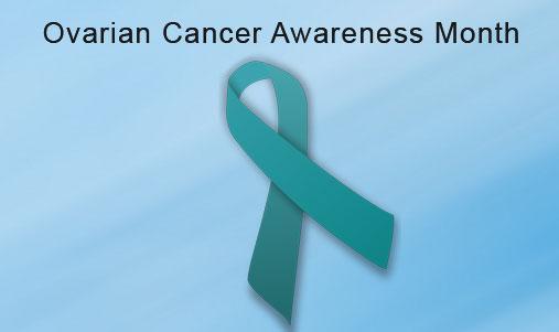Ovarian Cancer Teal Ribbon