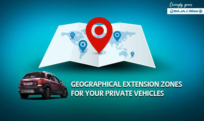 Motor insurance benefits for geographical extension zones
