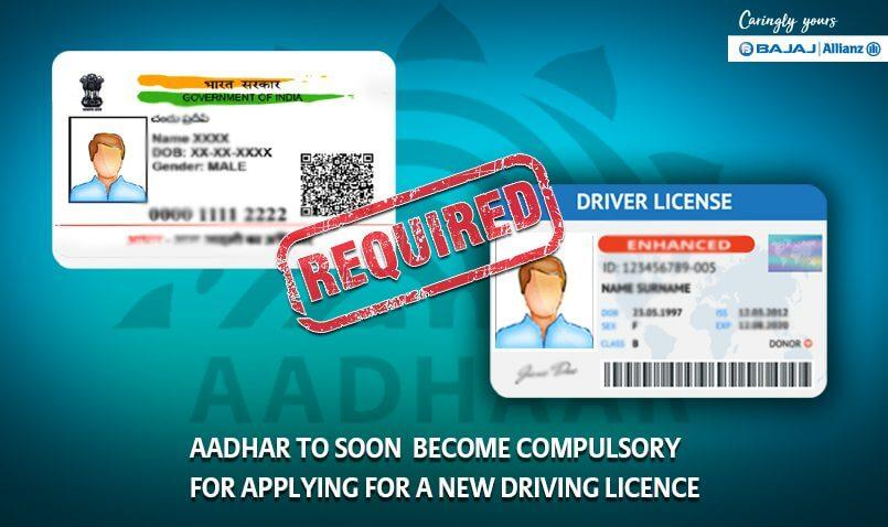 Is Aadhaar card a mandatory document for getting a license?