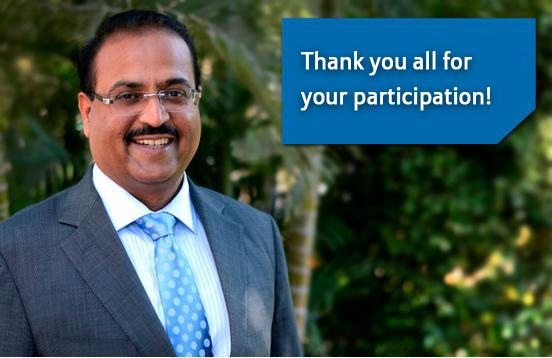 Thank You for Attending the Live Chat Session